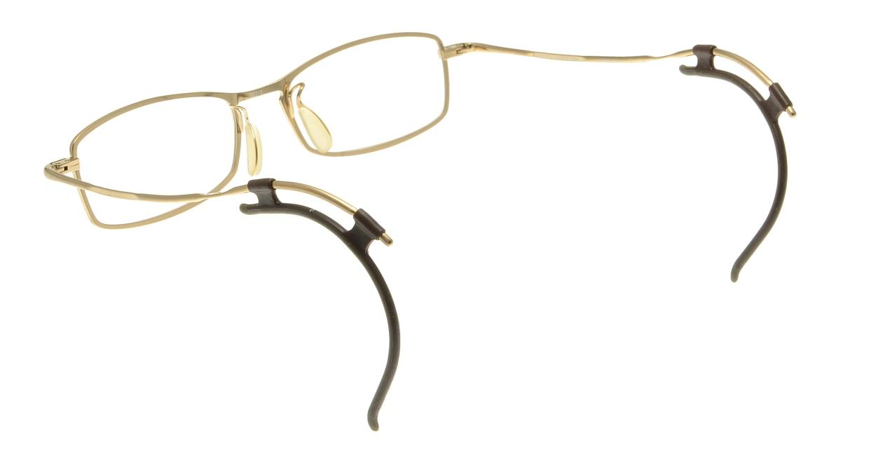 フェイスフォント ストラクチャー ST503-2-52 [メタル/鯖江産/スクエア/ゴールド]  2