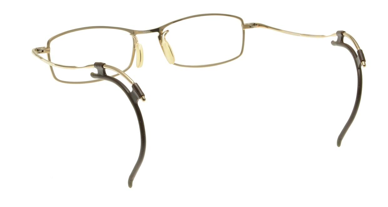 フェイスフォント ストラクチャー ST503-7-52 [メタル/鯖江産/スクエア/ゴールド]  2