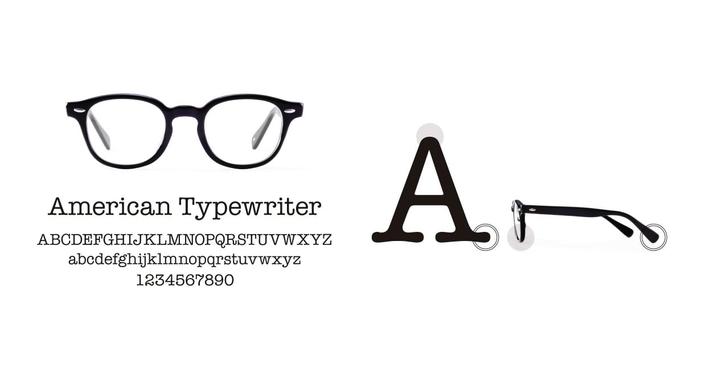 TYPE American Typewriter Bold-Clear [鯖江産/丸メガネ/透明]  3