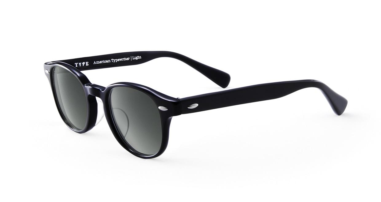 TYPE American Typewriter Light-Black Sunglasses [鯖江産/ボストン]  1