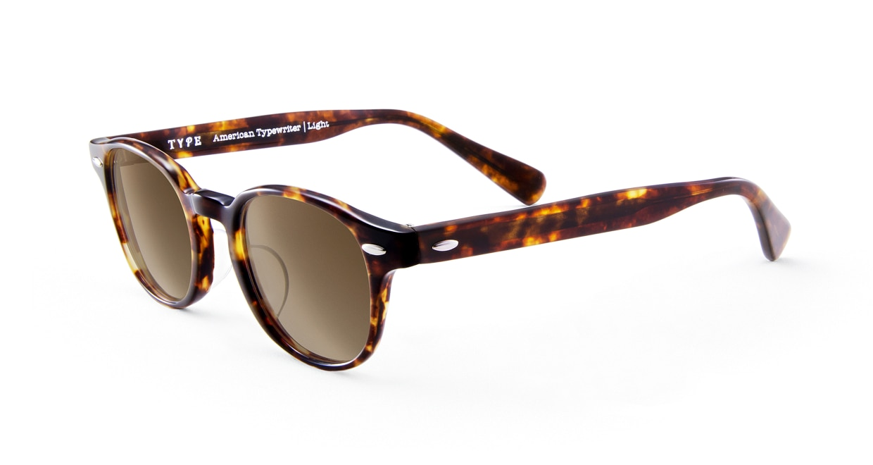 TYPE American Typewriter Light-Tortoise Sunglasses [鯖江産/ボストン]  1