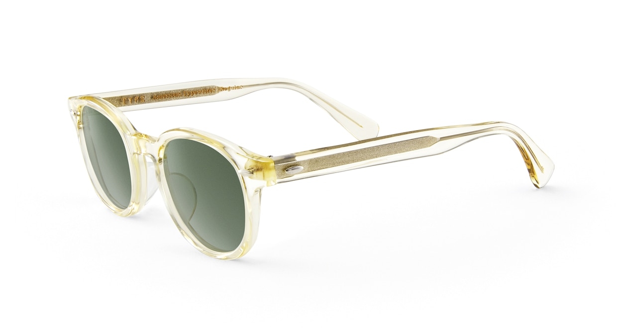 TYPE American Typewriter Regular-Clear Sunglasses [鯖江産/ボストン]  1