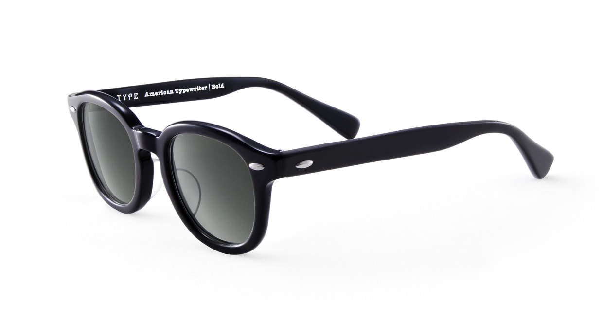 TYPE American Typewriter Bold-Black Sunglasses [鯖江産/ボストン]  1