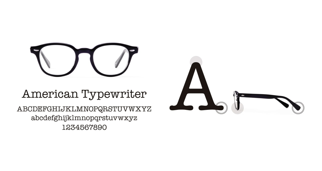 TYPE American Typewriter Bold-Black Sunglasses [鯖江産/ボストン]  3