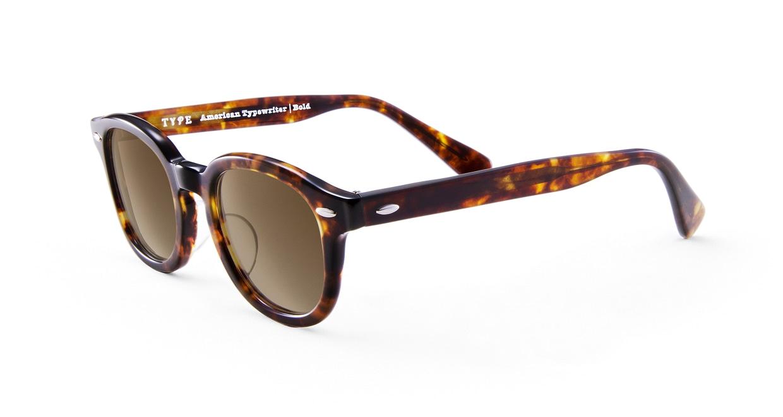 TYPE American Typewriter Bold-Tortoise Sunglasses [鯖江産/ボストン]  1