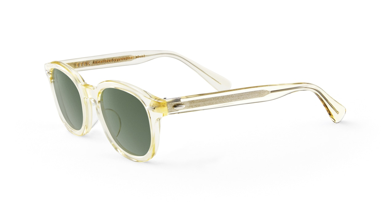 TYPE American Typewriter Bold-Clear Sunglasses [鯖江産/ボストン]  1