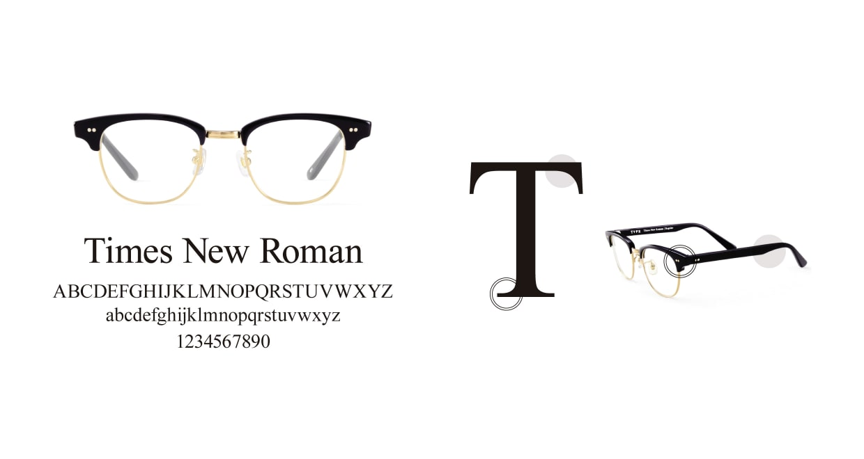 TYPE Times New Roman Light-Black Sunglasses [鯖江産/ウェリントン]  3