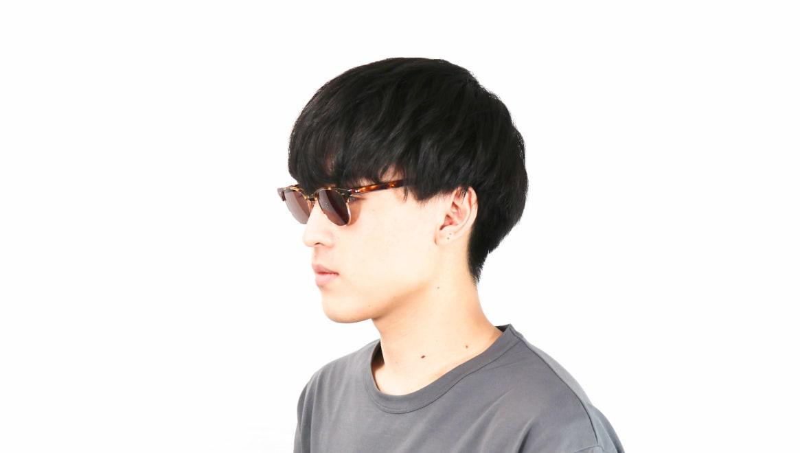 TYPE Times New Roman Light-Tortoise Sunglasses [鯖江産/ウェリントン]  5