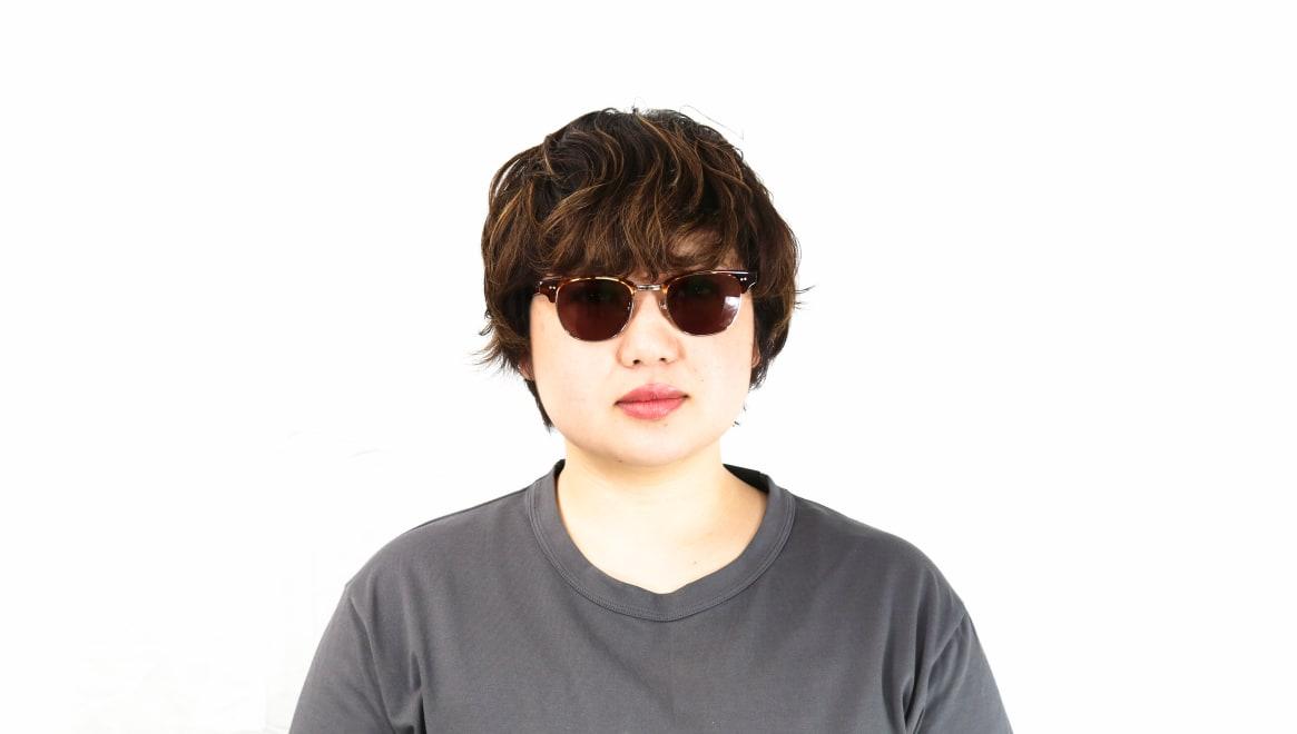 TYPE Times New Roman Light-Tortoise Sunglasses [鯖江産/ウェリントン]  6