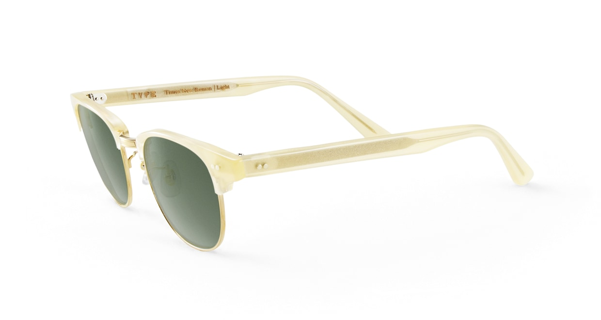 TYPE Times New Roman Light-Clear Sunglasses [鯖江産/ウェリントン]  1