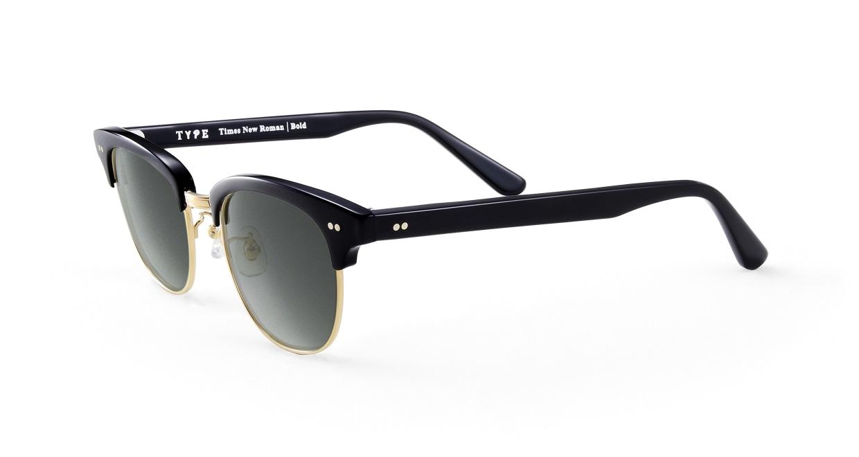 TYPE Times New Roman Bold-Black Sunglasses [鯖江産/ウェリントン]  1