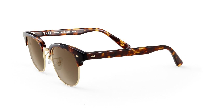 TYPE Times New Roman Bold-Tortoise Sunglasses [鯖江産/ウェリントン]  1