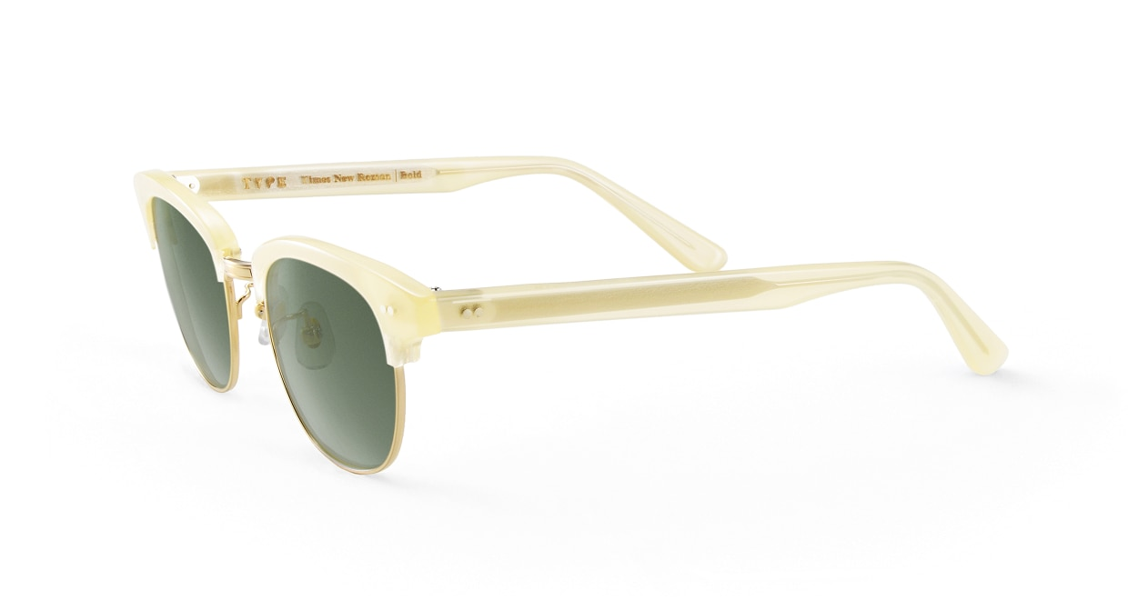 TYPE Times New Roman Bold-Clear Sunglasses [鯖江産/ウェリントン]  1