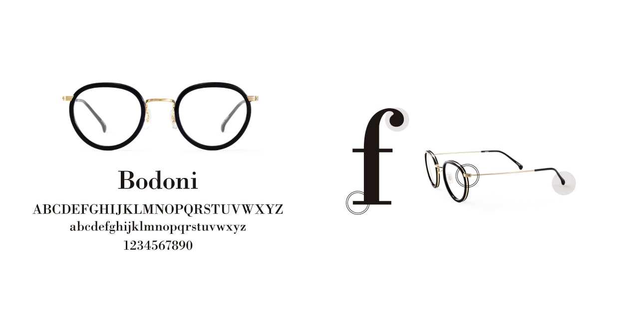 TYPE Bodoni Light-Black Sunglasses [鯖江産/ボストン]  3