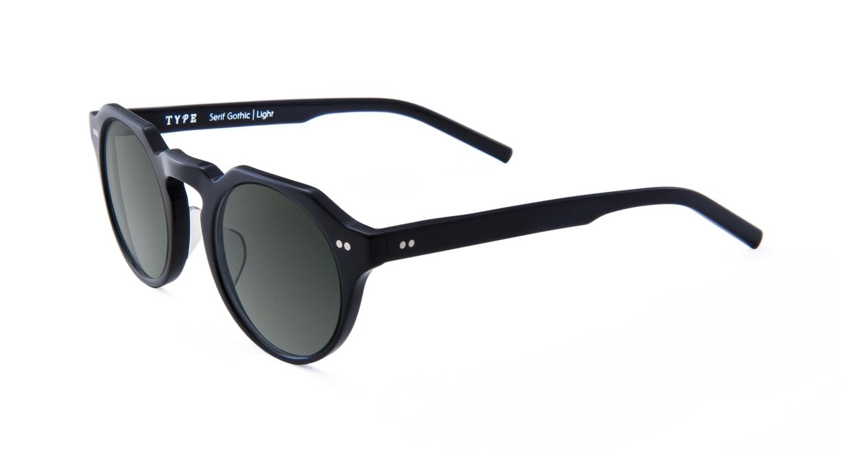 TYPE Serif Gothic Light-Black Sunglasses [鯖江産/ラウンド]  1