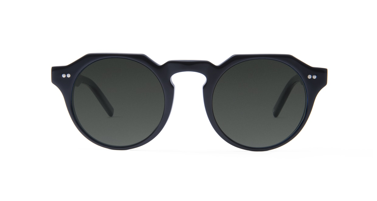 TYPE Serif Gothic Light-Black Sunglasses [鯖江産/ラウンド]