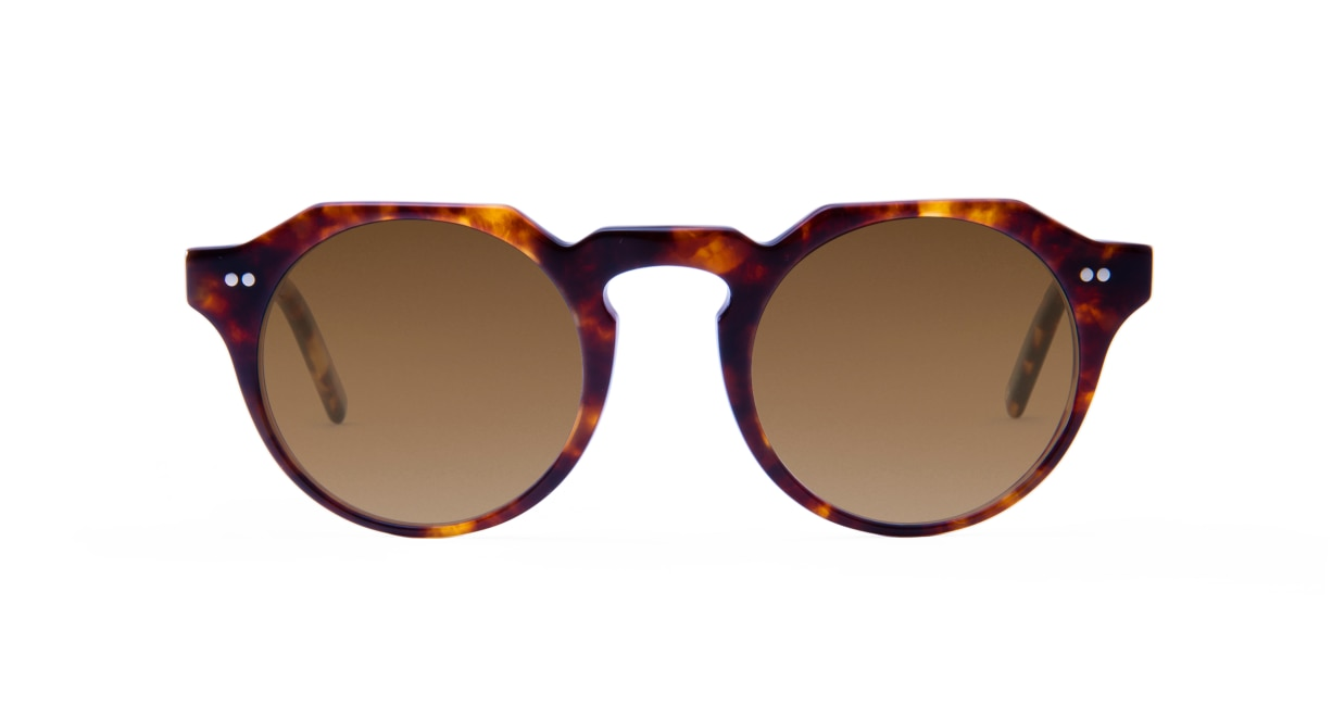TYPE Serif Gothic Light-Tortoise Sunglasses [鯖江産/ラウンド]