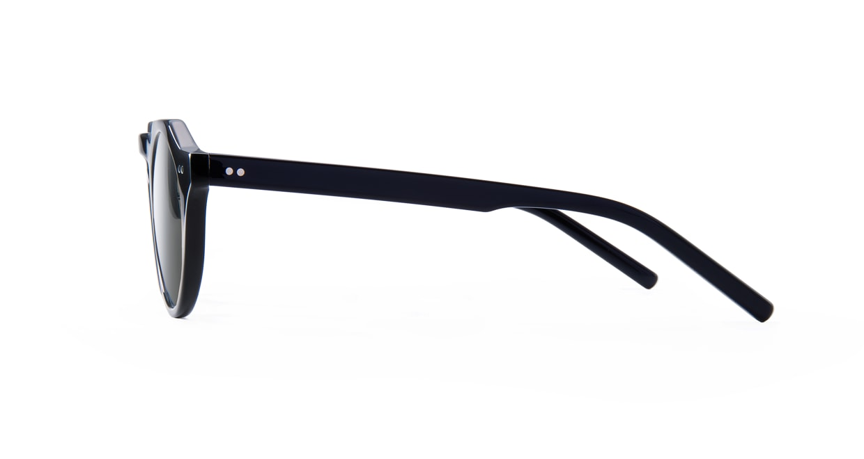 TYPE Serif Gothic Regular-Black Sunglasses [鯖江産/ラウンド]  2