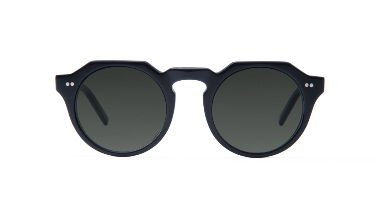 TYPE Serif Gothic Regular-Black Sunglasses [鯖江産/ラウンド]