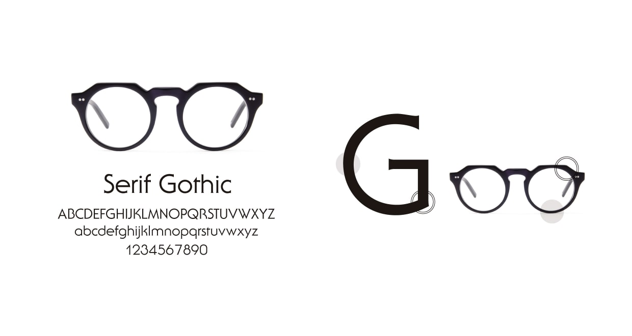 TYPE Serif Gothic Regular-Black Sunglasses [鯖江産/ラウンド]  3