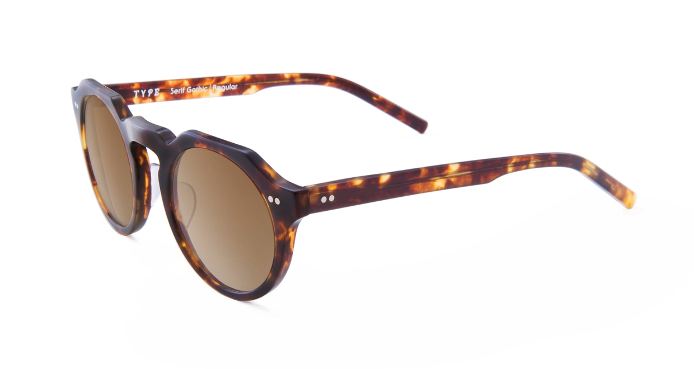 TYPE Serif Gothic Regular-Tortoise Sunglasses [鯖江産/ラウンド]  1