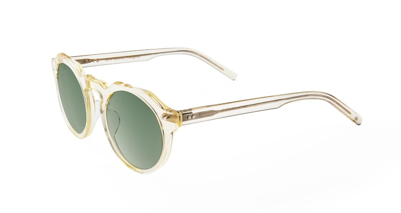 TYPE Serif Gothic Regular-Clear Sunglasses [鯖江産/ラウンド]  1