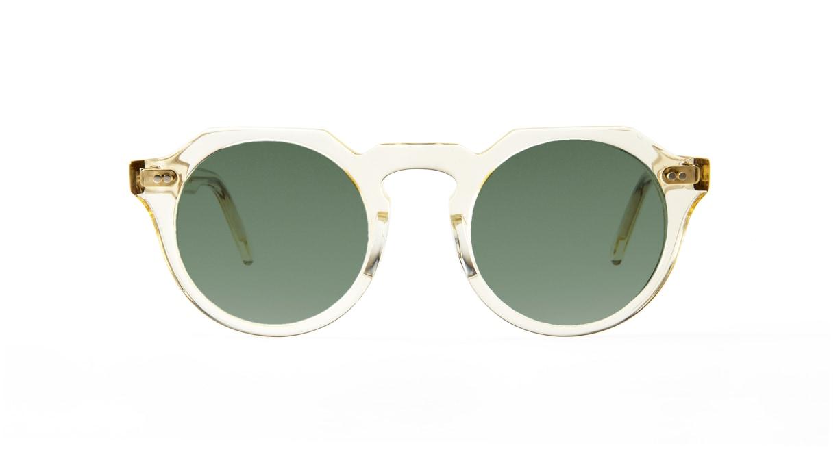 TYPE Serif Gothic Regular-Clear Sunglasses [鯖江産/ラウンド]