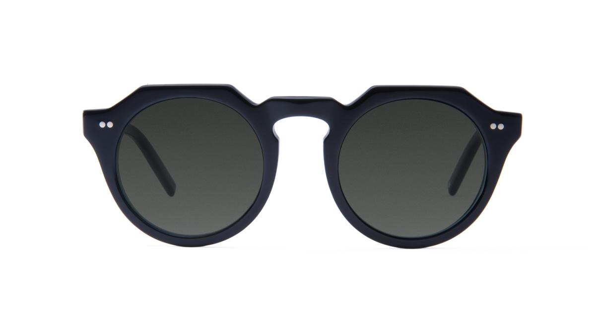 TYPE Serif Gothic Bold-Black Sunglasses [鯖江産/ラウンド]
