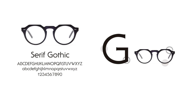 TYPE Serif Gothic Bold-Black Sunglasses [鯖江産/ラウンド]  3