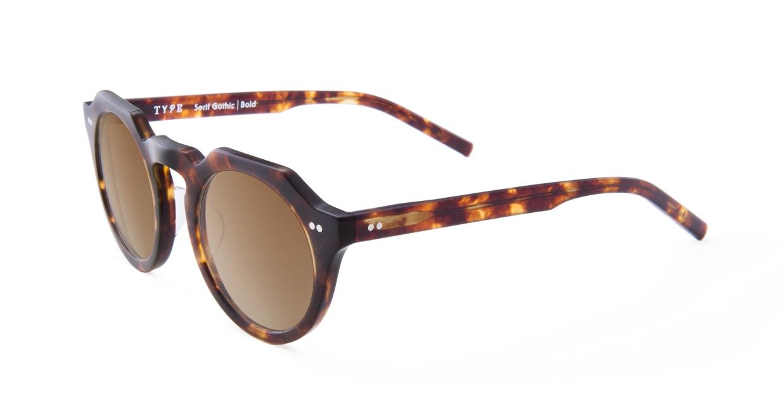 TYPE Serif Gothic Bold-Tortoise Sunglasses [鯖江産/ラウンド]  1