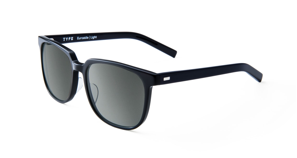 TYPE Eurostile Light-Black Sunglasses [鯖江産/スクエア]  1