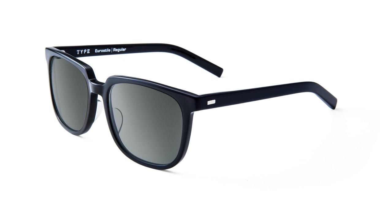 TYPE Eurostile Regular-Black Sunglasses [鯖江産/スクエア]  1
