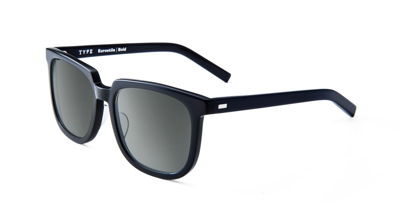 TYPE Eurostile Bold-Black Sunglasses [鯖江産/スクエア]  1