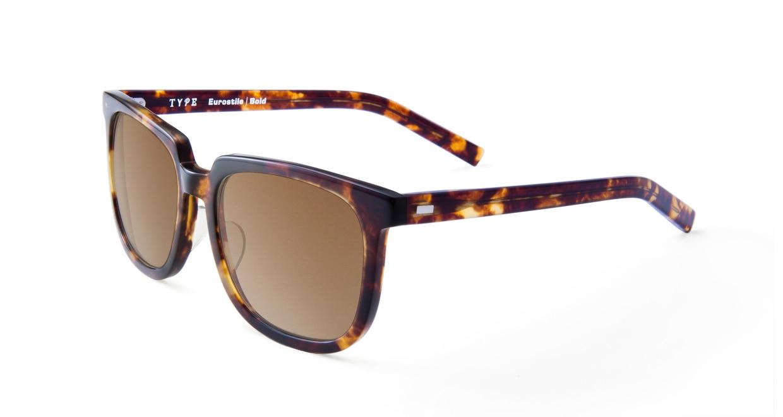 TYPE Eurostile Bold-Tortoise Sunglasses [鯖江産/スクエア]  1