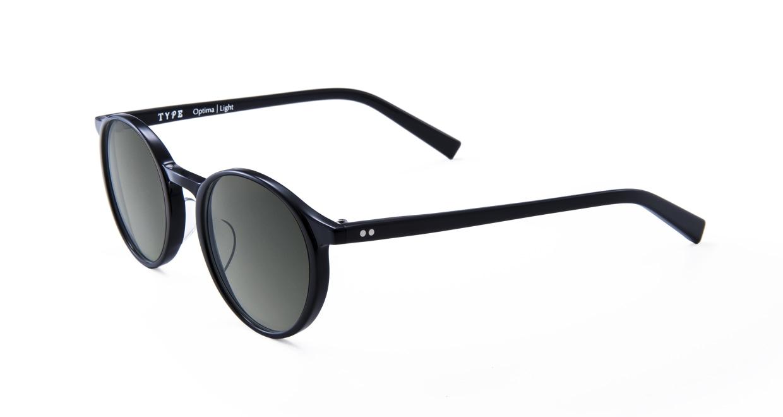 TYPE Optima Light-Black Sunglasses [鯖江産/ラウンド]  1