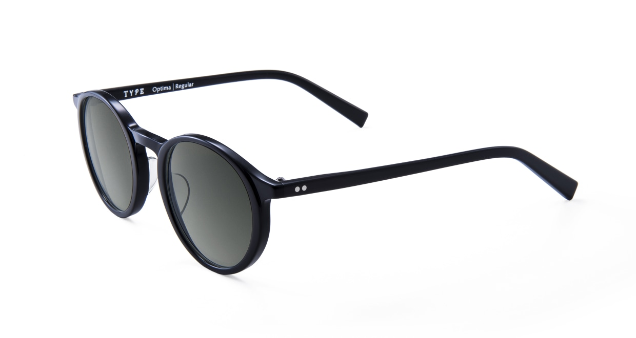 TYPE Optima Regular-Black Sunglasses [鯖江産/ラウンド]  1