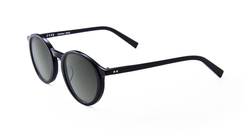 TYPE Optima Bold-Black Sunglasses [鯖江産/ラウンド]  2