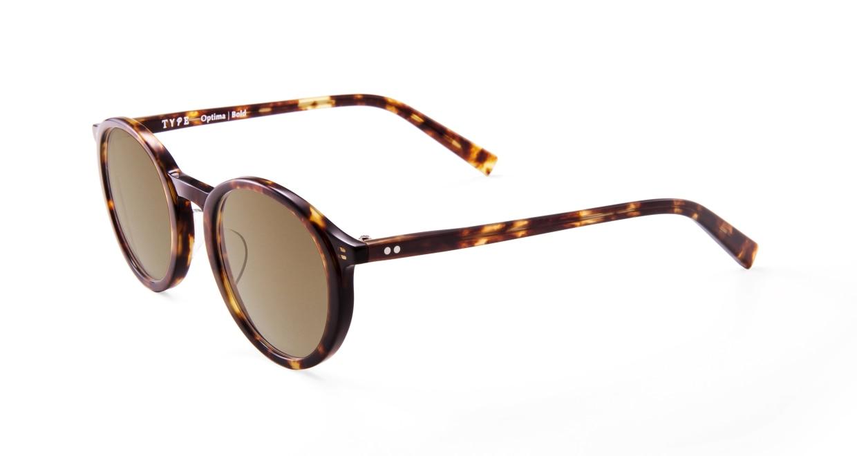 TYPE Optima Bold-Tortoise Sunglasses [鯖江産/ラウンド]  2