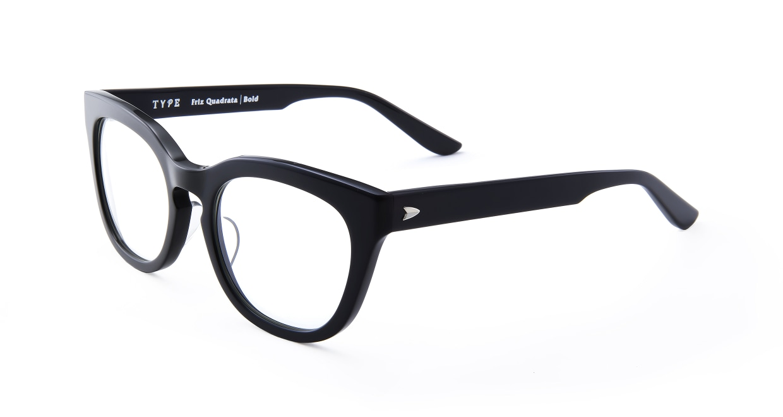 TYPE Friz Quadrata Bold-Black [黒縁/鯖江産/ウェリントン]  1