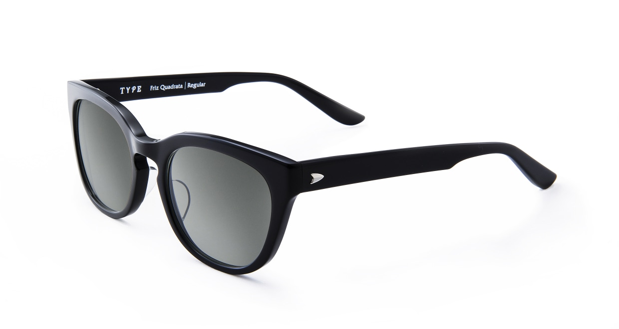 TYPE Friz Quadrata Regular-Black Sunglasses [鯖江産/ウェリントン]  1