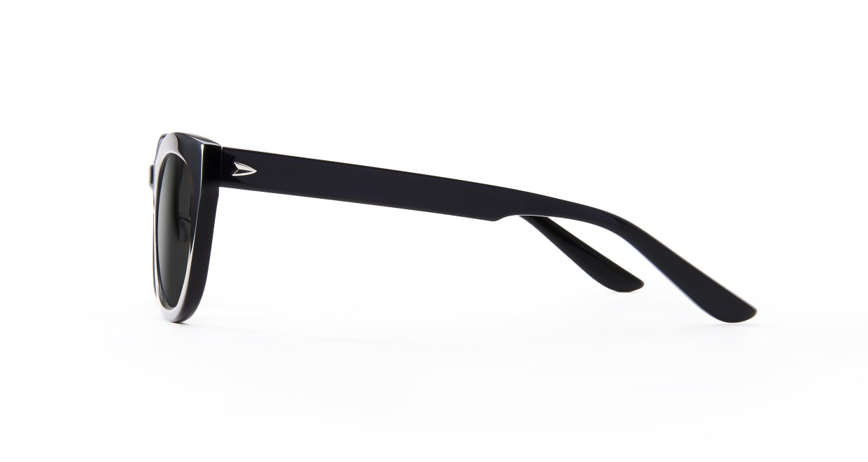 TYPE Friz Quadrata Regular-Black Sunglasses [鯖江産/ウェリントン]  2