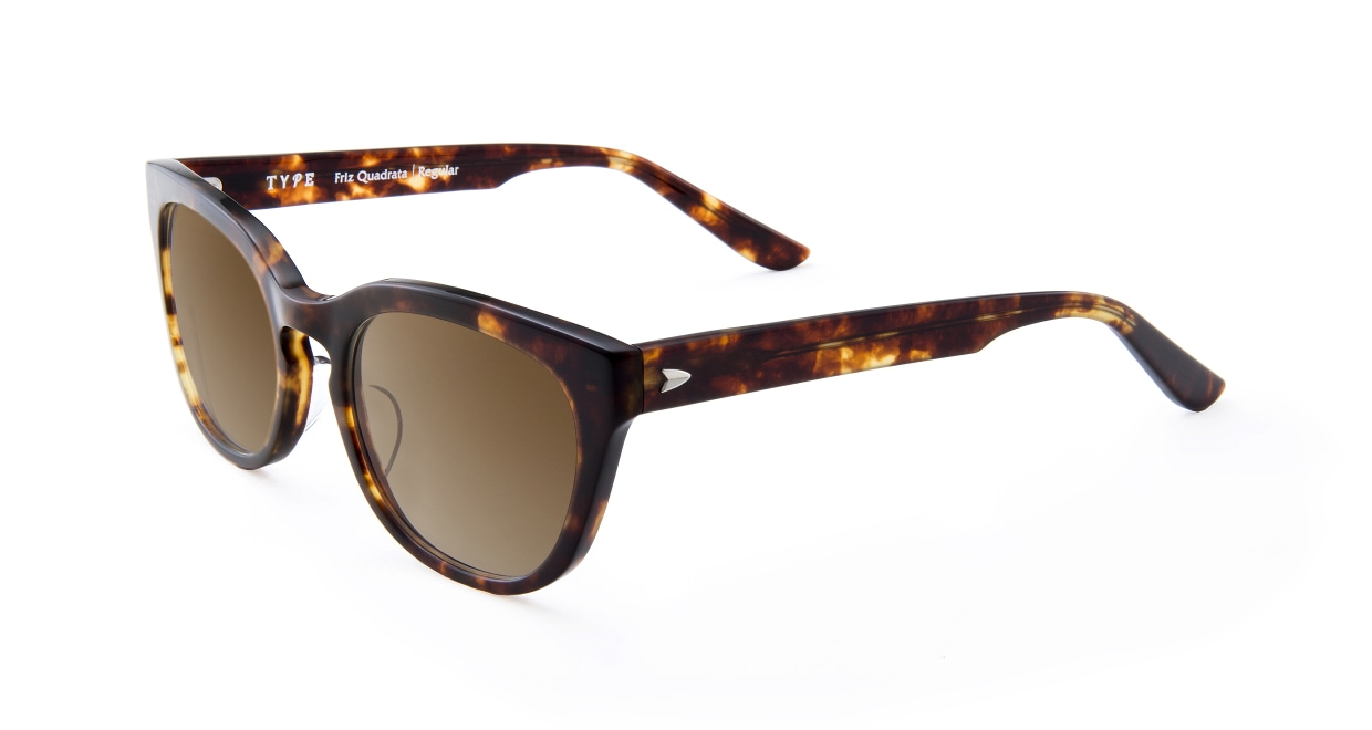 TYPE Friz Quadrata Regular-Tortoise Sunglasses [鯖江産/ウェリントン]  1