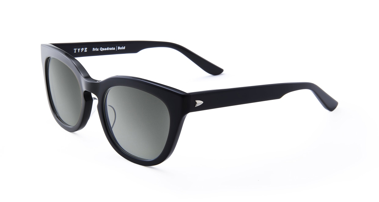 TYPE Friz Quadrata Bold-Black Sunglasses [鯖江産/ウェリントン]  1