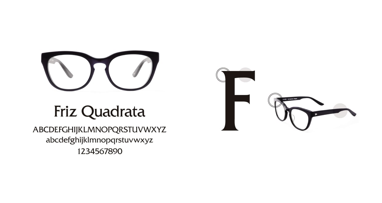 TYPE Friz Quadrata Bold-Black Sunglasses [鯖江産/ウェリントン]  3