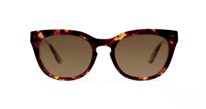 TYPE Friz Quadrata Bold-Tortoise Sunglasses [鯖江産/ウェリントン]
