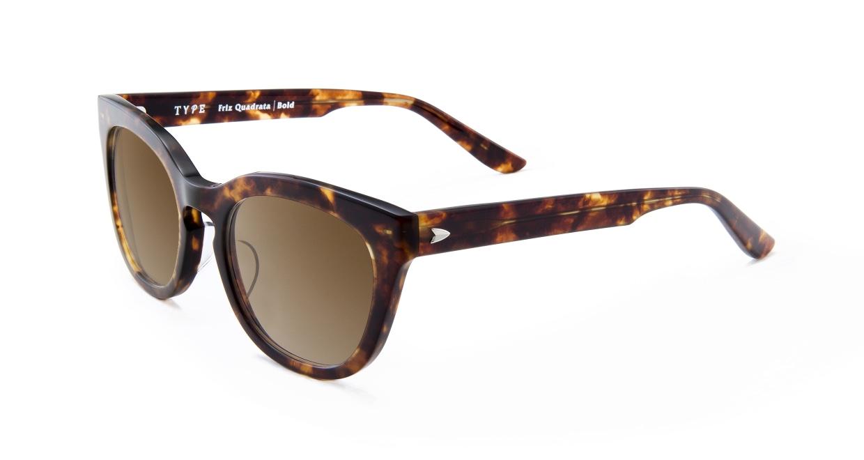 TYPE Friz Quadrata Bold-Tortoise Sunglasses [鯖江産/ウェリントン]  1
