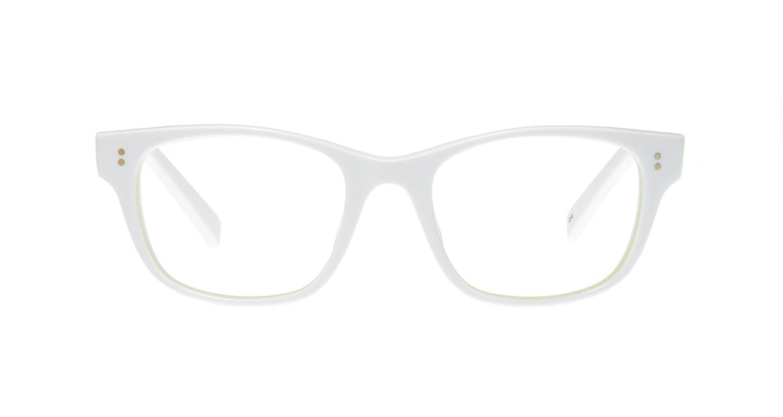 TYPE Helvetica Light-White [鯖江産/ウェリントン/白]