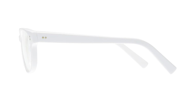 TYPE Helvetica Light-White [鯖江産/ウェリントン/白]  1
