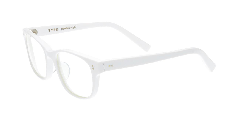 TYPE Helvetica Light-White [鯖江産/ウェリントン/白]  2