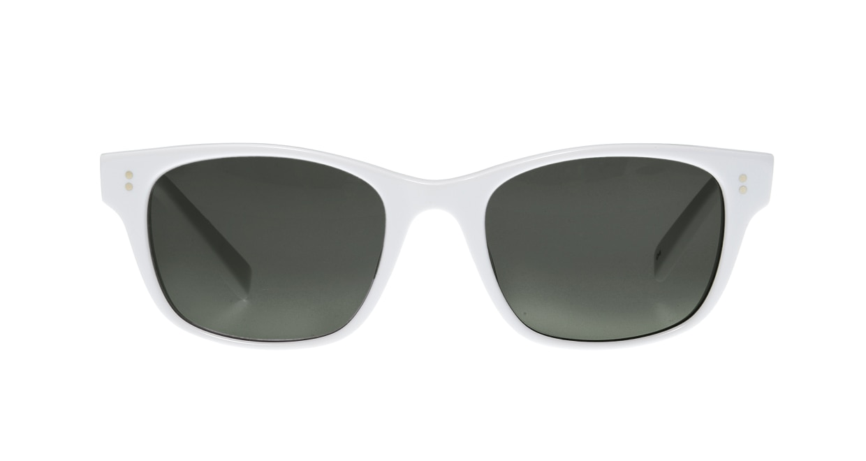 TYPE Helvetica Light-White Sunglasses [鯖江産/ウェリントン]